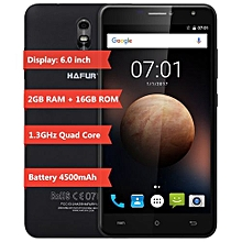 UMAX 6.0 Inch 3G Phablet Android 7.0 MTK6580 Quad Core 1.3GHz 2GB RAM 16GB ROM 4500mAh Battery OTG 13.0MP Rear Camera-BLACK