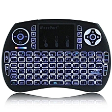 Mini Keyboard Backlight Function with Touchpad German - Black