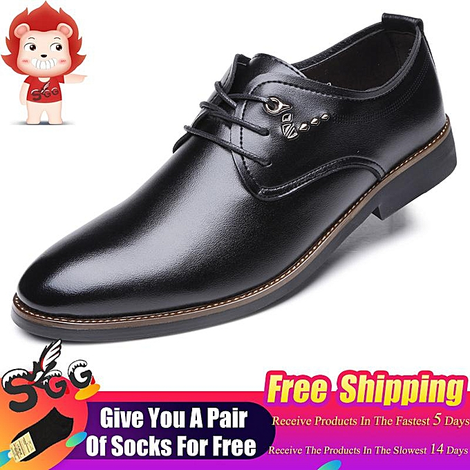 d5217f536 2019 SGG Fashion Pointed Shoes Business Men's Basic Casual Shoes, Black  Leather Cloth Elegant Design