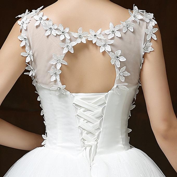 AFankara Floral Lace Wedding Dress, Elegant Appliques