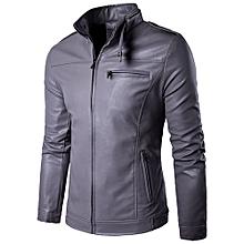 100% Leather Spring Men's Genuine Leather Plus Size Jackets Real Sheepskin Black Male Genuine Leather Jacket For Men -grey