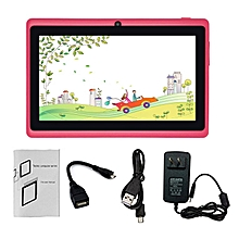 7-Inch HD Touch Screen EU Plug Children Tablet PC Quad-Core 512MB+8GB Tablet pink