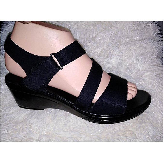647c5bfd342a Generic New Black Wedge Sandals Women Shoes   Best Price