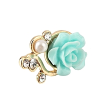 Rose Flower 3D Crystal Bead Pearl Anti Dust Plug Charms For 3.5mm Phone