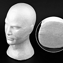Men Smooth Mannequin Head Model Wig Hat Glasses Bubble Mannequin Head With Ear