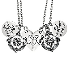 New SaleFashion ELOI Best Friend Gifts Long Distance Friendship 2 Piece Heart Necklaces Best Friend Jewelry 17 Inches