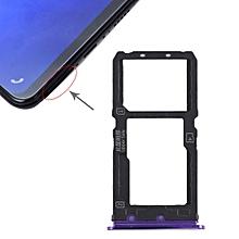 SIM Card Tray + SIM Card Tray / Micro SD Card Tray for Vivo X21 (Purple)