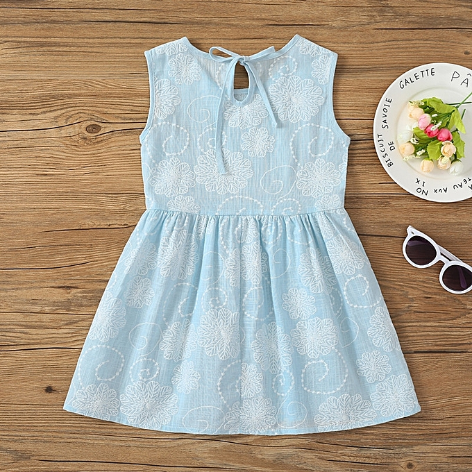 1c8701b86 Generic Baby Girl Cotton Princess Sleeveless Dress Skirt Summer ...