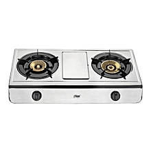 MSG2502   Gas Stove, Table Top, Stainless Steel, 2 Burner
