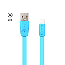 X9 - 8 Pin Noodle Charging Cable 2M - Blue