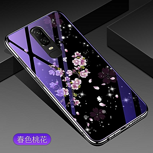 huge selection of f6ff6 a2d51 For Oneplus 6 Lovely Cartoon Wolf Flower Blue Light Back Cover For One Plus  6 Anti-Explosion Tempered Glass Case Fundas 6.28inch 301126 c-0 ...