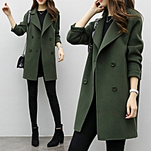jiuhap store Womens Autumn Winter  Jacket Casual Outwear Parka Cardigan Slim Coat Overcoat-Army Green