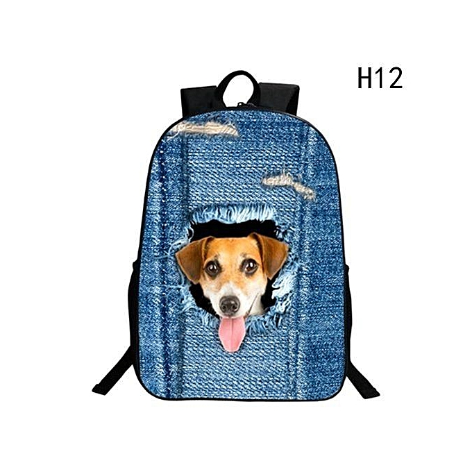 36173a7a45 Animals Crazy Backpacks For Boys Girls Puppy School Bags Cute Dog Cat  Student Teenager School Backpack