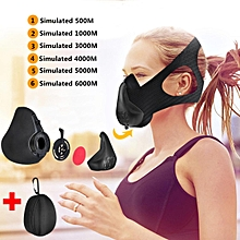 Workout Training Mask Oxygen Running Fitness Mask High Altitude 6 Level Air Flow
