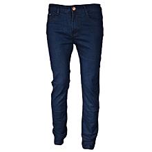 Blue Fashionable Plain Men's Jeans