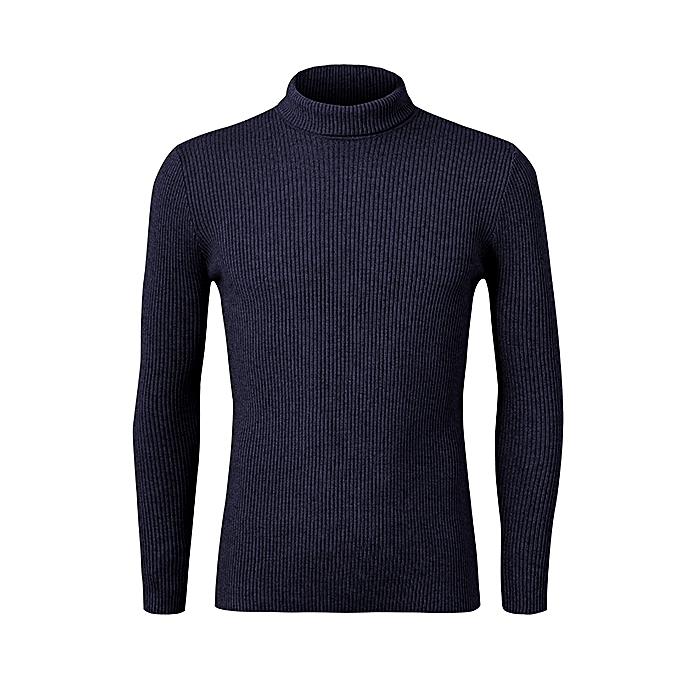 93204768788 Mens Roll Neck Knitwear Cashmere Blend Turtleneck Slim Fit Knitted Sweater