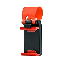 Car Mount, Steering Wheel Stand GPS Rubber Band Holder for Iphone 6,6s,6plus,5s,Samsung Galaxy S6,S5,etc