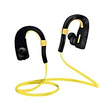 Bluetooth EarHook Wireless Sports Stereo Waterproof Headset Earphone For iphone7-Yellow