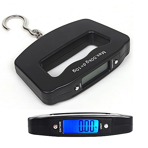 Black ABS Plastic Pocket 50kg/10g LCD Digital Fishing Hanging Electronic Scale Hook Weight Luggage