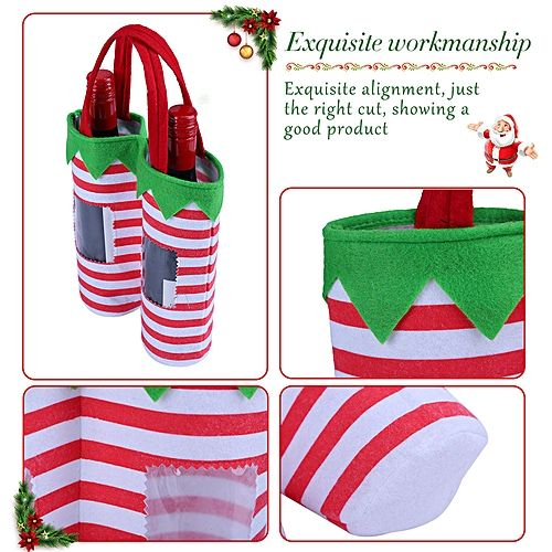Elf Christmas Gift Bags.Elf Pants Christmas Candy Bags Wine Stocking Bottle Gift Bag