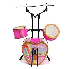 Cool Shocking Pink Drum Set Musical Instruments For Barbie Doll Dollhouse Decor