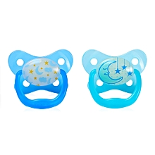 Prevent Glow in the Dark Butterfly Shield Pacifier Stage 2  (6 -12m) – Blue