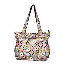 Multi Color Waterproof Floral Print Diaper Bag