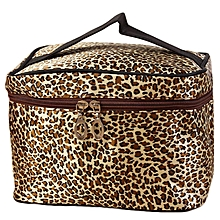Leopa Print Cosmetic Bags Women Travel Makeup Bag Make Up Bags -Brown