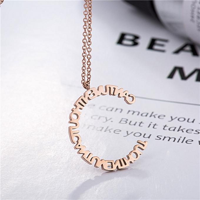 100 take the letter of alphabet titanium steel necklace fema