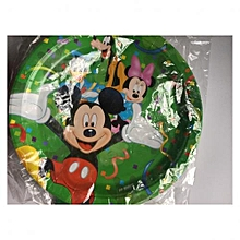 Themed Birthday Plates - 10 Pieces - Multicoloured