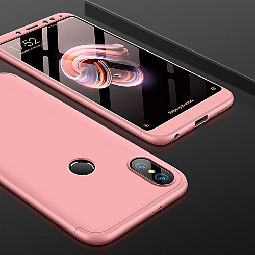 cd0e12a6a GKK GKK Xiaomi Redmi Note 5 Pro Three Stage Splicing 360 Degree Full  Coverage PC Case Back Cover(Rose Gold)