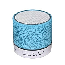 Wireless Bluetooth Speaker With Crack Pattern/LED Flash/TF Card Support - Blue