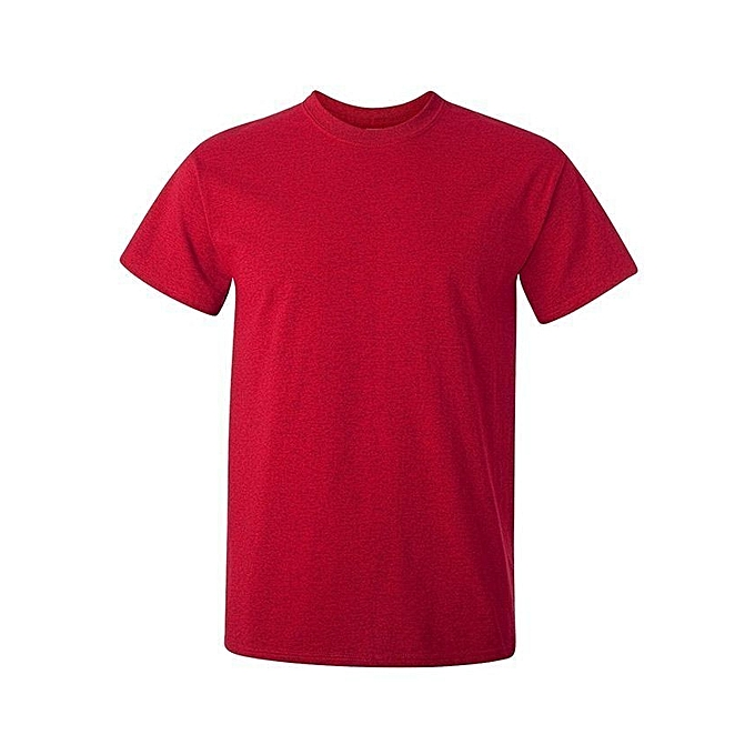 fe00bdc4a485 Buy Generic Red Plain T-Shirt   Best Price   Jumia Kenya