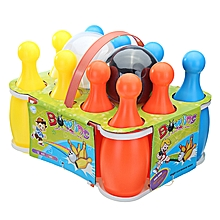12PCS Set 23CM Height Funny Large Bowling Bottle With Balls Pins For Kids Children Sports Toys-