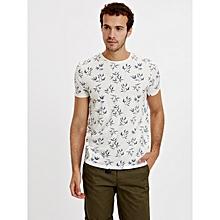 Cream Fashionable Skinny T-Shirt