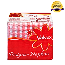 Red Designer Serviettes/Napkins – 1 Pack