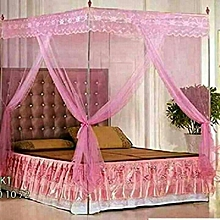 MOSQUITO NET WITH  FIRM METALLIC  STANDS- PINK