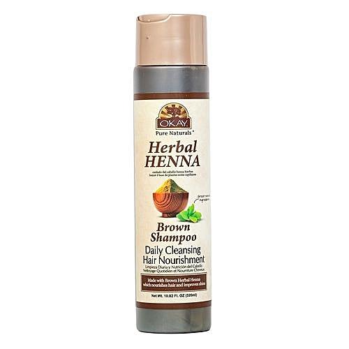 buy okay herbal henna brown shampoo daily cleansing hair nourishment
