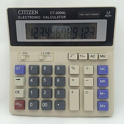 Refined CT-200ML Solar Calculator Desktop Calculator 12-bit Display  Arithmetic Calculator