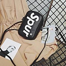 bluerdream-Women's Fashion Letter Print Handbag Crossbody Shoulder Bags Size Small BK-Black