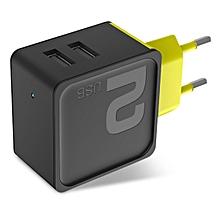Rock 2.4A Sugar 2 USB Ports EU Plug Fast Travel Wall Charger For iphone7 SamsungS8 Xiaomi6 Redmi
