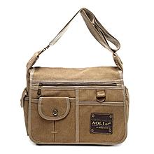 Vintage Canvas Large Capacity Casual Multi-pocket Crossbody Bag For Men