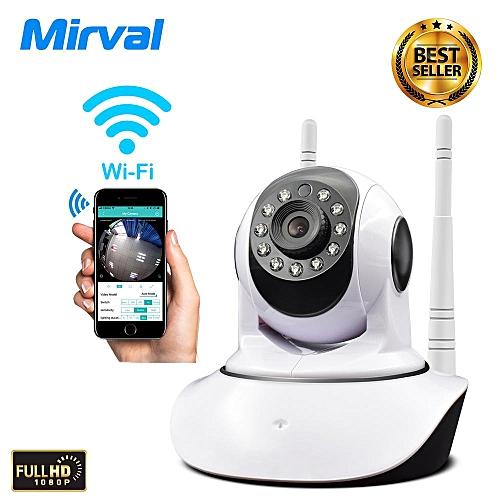Mirval SC1 1080P IP Camera Wireless Home Security IP Camera Surveillance  Camera Wifi Night Vision CCTV Camera Baby Monitor 1920*1080 (White) WKMALL