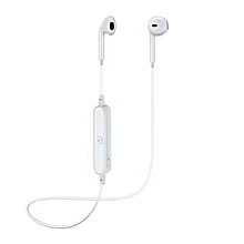 Wireless Bluetooth Sports Stereo Earphone Headphone Headset For iPhone Samsung white