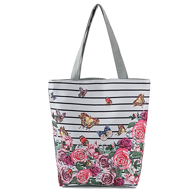 24a0cc0c5ba160 Vintage Women Canvas Handbag Totes Floral Print Large Capacity Casual  Foldable Shopping Shoulder Bag