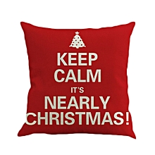 Flax Pillow Case Christmas Pillowcase Pillow Cover Cushion Cover For Home Use red
