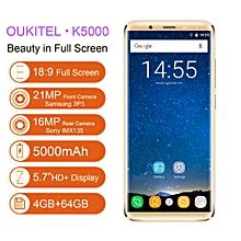"Oukitel K5000 4G 5.7"" 4GB RAM 64GB ROM Android 7.0 5000mAh - Golden"
