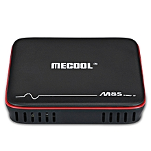 M8S PRO W 2.4G Voice Control TV Box - EU Plug - Black