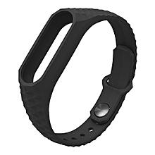 New Strap For Xiaomi MI Band 2 Smart Wristbands Silicone Wrist Strap Replacement Bracelet Strap -Black
