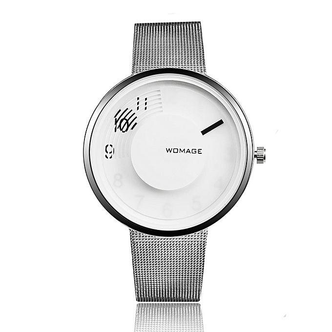 523f23217 New style New ladies steel belt fashion women's watch simple personality  watch-Silver